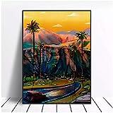 SDGW California Sur Lienzo Pintura Arte Impresión Cartel Imagen Pared Minimalista Dormitorio Sala De Estar Decoración-60X80Cm Sin Marco