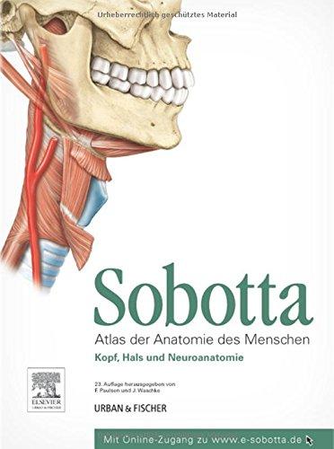 Sobotta, Atlas der Anatomie des Menschen  Teil 3: Kopf, Hals und Neuroanatomie