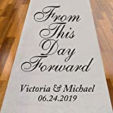 Abby Smith from This Day Forward Personalized Aisle Runner