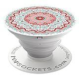 PopSockets PopGrip - Soporte y Agarre [No Intercambiable] para Teléfonos Móviles y Tabletas - Aztec Mandala Red
