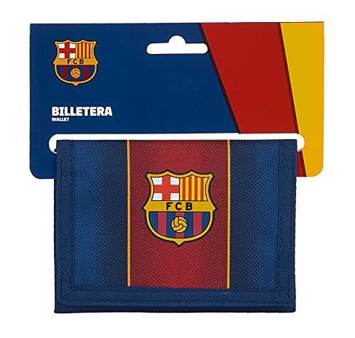 Safta Cabecera de F.C. Barcelona, Accesorio de viaje- Billetera Unisex ni, Azul Marino/Granate, Mediano