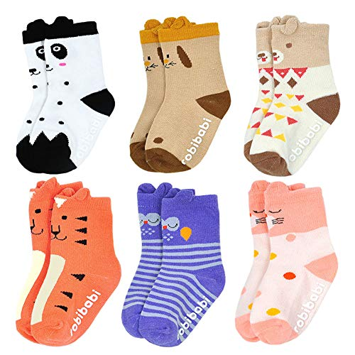 Toddler Sock with Grip Non Slip Walker Boys Girls with Grips Slipper Novelty Baby Sock