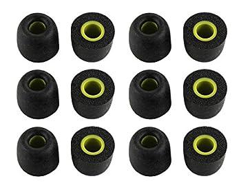 Zotech 6 Pair Memory Foam Replacement Earbuds Ear Tips for JayBird BlueBuds X X2 & X3 Sport Headphones  Medium