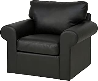 The Dense Cotton Ektorp Chair Cover Replacement is Custom Made for IKEA Ektorp Armchair Cover, A One Seat Sofa Slipcover Replacement (PU Leather Black)