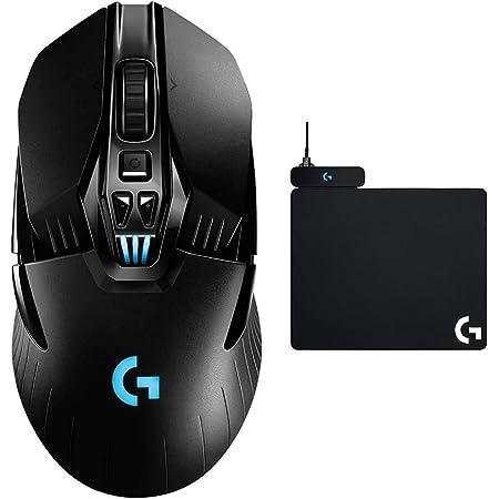 Logitech G G903 Lightspeed Ratón Gaming Inalámbrico, Captor Hero 25K, RGB, Botones Programables, Batería de 140h y Powerplay Alfombrilla de Carga Inalámbrica Compatible, PC, Mac