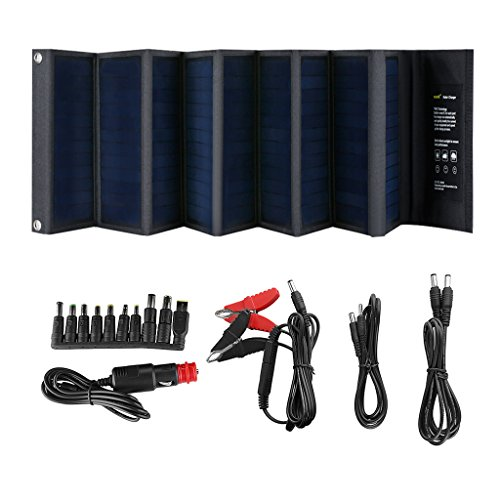 SUAOKI 60W Portable Mono-crystalline Solar Panel with DC 18V and USB 5V Output Charger for Laptop Tablet SLR GPS Cellphone Other 5-18V Device