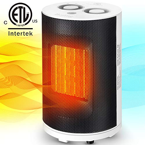 Bojing Oscillating Space Heater 1500W Electric Ceramic Indoor Portable Heater with Thermostat
