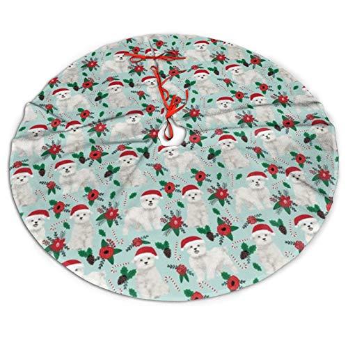 Faldas de Navidad maltesas con diseño de pompa de Navidad para perros de Navidad, árbol de Navidad, faldón para árbol de Navidad, Acción de Gracias, vacaciones, decoración de fiesta (91,4 cm)
