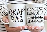 Ensemble de tasses avec sac de merde et de princesse Consuela Banana Hamac Mr et Mr, His and Hers, Ross et Rachel, Monica et Chandler, Monica to My Rachel