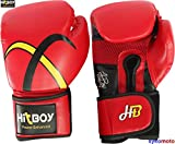 HITBOY Attitude Erwachsene Boxen Handschuhe MMA Coaching Sports AUSRÜSTUNG Kampf Muay Thai Kick Boxing Sparring STAMPFEN Bag Praxis Handschuhe ROT