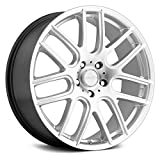 Vision 426 Cross II Hyper Silver Wheel with Painted Finish (20 x 8.5 inches /5 x 114 mm, 40 mm Offset)
