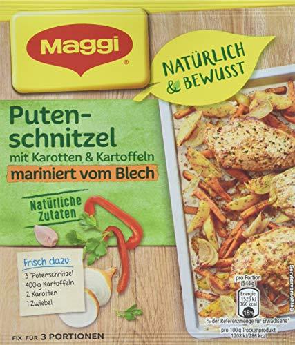 Maggi Fix und frisch Putenschnitzel mit Karotten und Kartoffeln, 23er Pack (23 x 27 g)