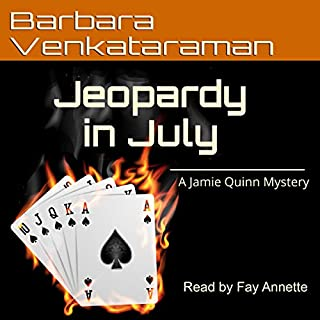 Jeopardy in July audiobook cover art