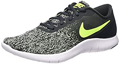 Nike Men's Flex Contact Running Shoes (7, Anthracite/Barely Volt/White)