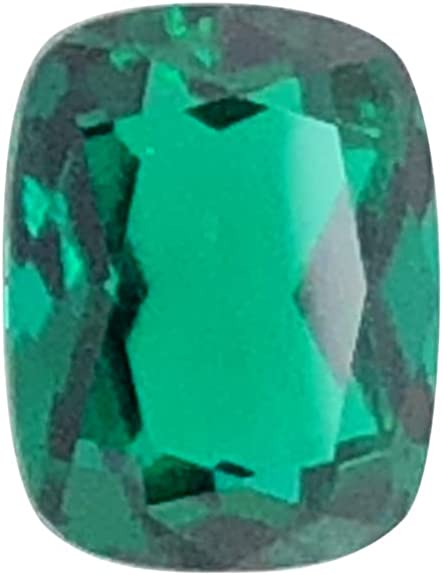 Mysticdrop Lab Created Emerald Elongated Cushion Checkered Shape AAA Quality from 6x4MM-12x10MM