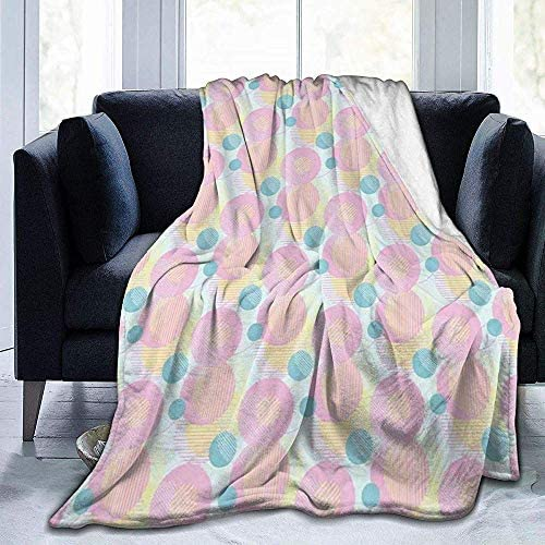 DSSYEAH Couverture de bébé Superbes Cercles superposés avec Couverture Douce et Chaude 60 * 80 inches
