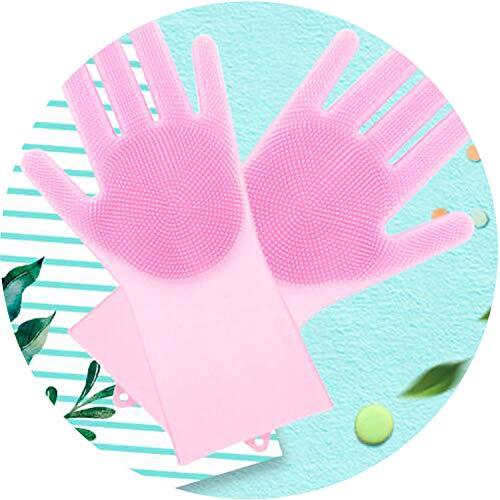 Magia de Silicona Scrubber Goma de Limpieza Guantes de Polvos de Lavado de Mascotas Cuidado de Pelo de Coche Aislamiento de Cocina Ayudante