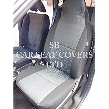 Pair Of Waterproof Seat Covers Grey SUZUKI CARRY VAN 2005 on