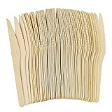 Disposable Wooden Knives,Biodegradable Compostable Party Supplies for Kids Adults Camping,Wedding,Party,DIY Crafts(01, 100PCS)