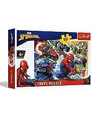 Trefl 17311 Spider-man puzzel 60, meerkleurig