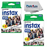 Fujifilm Wide Instant Film Twin Pack X2 (40 Sheets) + Camera and Lens Cleaning Cloth