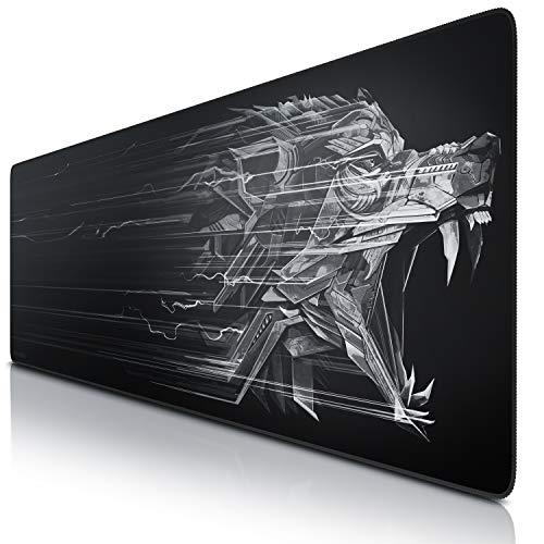 Superficie de Tejido Motivo Logo Rojo Precisi/ón y Velocidad en Juegos Antideslizante para Rat/ón y Teclado TITANWOLF Mouse Pad Gaming XXL Alfombrilla de Rat/ón XXL 900x400mm