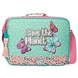 Movom Save The Planet Cartera Escolar Multicolor 38x28x6 cms Poliéster Reciclado