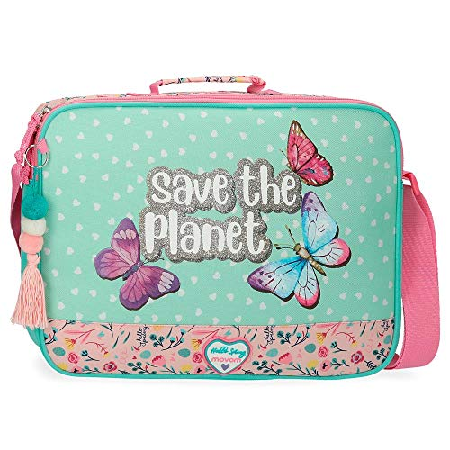 Movom Save The Planet Cartera Escolar Multicolor 38x28x6 cms Poliéster Reciclado