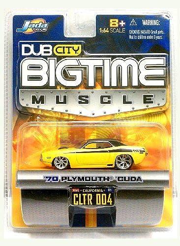 punto de venta barato DUB CITY 1 64 Scale BIG TIME MUSCLE MUSCLE MUSCLE 70 PLYMOUTH 'CUDA amarillo   negro   2004 by Jada Toys  tienda de ventas outlet