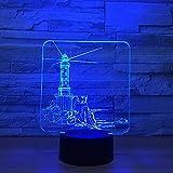 Lighthouse 3D LED Visual Lamp Night Light Decor Desk Lamp 7 Color Changeable Room Desk Lamp Table Pharo Decoration Gift with USB Cable for Room Decor,Birthday Gift Christmas Gift Toys for Children Kid