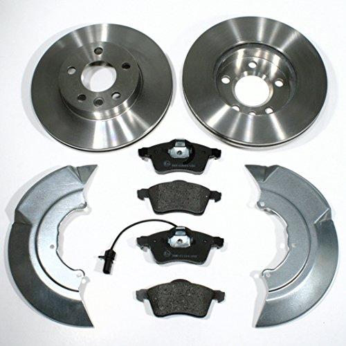 Bremsscheiben Ø 280 mm/Bremsen 1LU + Bremsbeläge + Warnkabel + Spritzbleche für vorne/für die Vorderachse