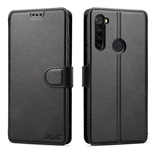 Keallce für Xiaomi Redmi Note 8T Hülle, Handy Lederhülle PU Leder Hülle Brieftasche Handytasche Cover Kompatibel für Xiaomi Redmi Note8T Ledertasche-6.3 inch, Schwarz