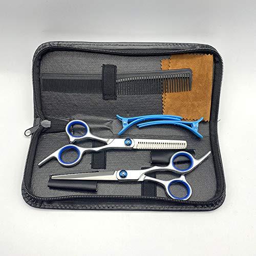 YHADX Juego de 7 tijeras planas de peluquería (15,24 cm)