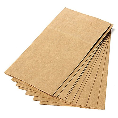 Academyus 10Pcs Brown Kraft Paper Bags Party Wedding Favors Small Gift Bread Food Bags