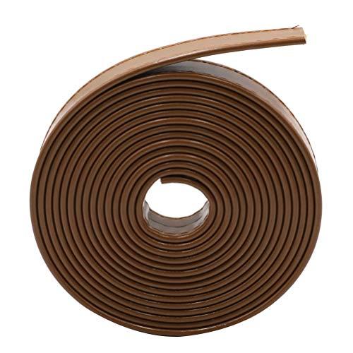 EXCEART 1 Rollo de Correa de Cuero de La Pu Tira de Cuero de Grano Completo para El Bolso de Costura Artesanal Diy Que Hace Suministros de Monedero 2 Cm X 3 M (Marrón)