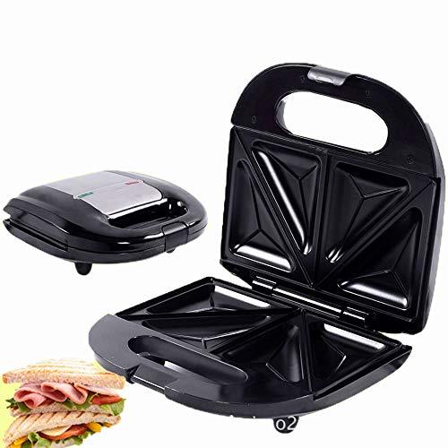 Parrilla para sandwiches de 750 W y prensa panini para cualquier sándwich de espesor antiadherente