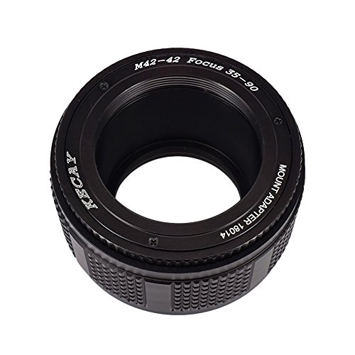 KECAY® Objektiv Adapter Ring M42 (42mm) an 42mm Mount Focusing Helicoid Ring Adapter 35mm - 90mm