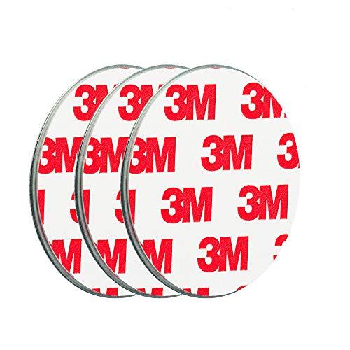 ECENCE Rauchmelder Magnethalter 3 Stück selbstklebende Magnethalterung für Rauchmelder Ø 50mm schnelle & sichere Montage ohne Bohren und Schrauben für alle Feuermelder und Rauchwarnmelder