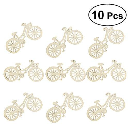 ROSENICE Miniature Biciclette Bici di Legno Vuoto per Decorazione Festa Fai da Te 10PCS