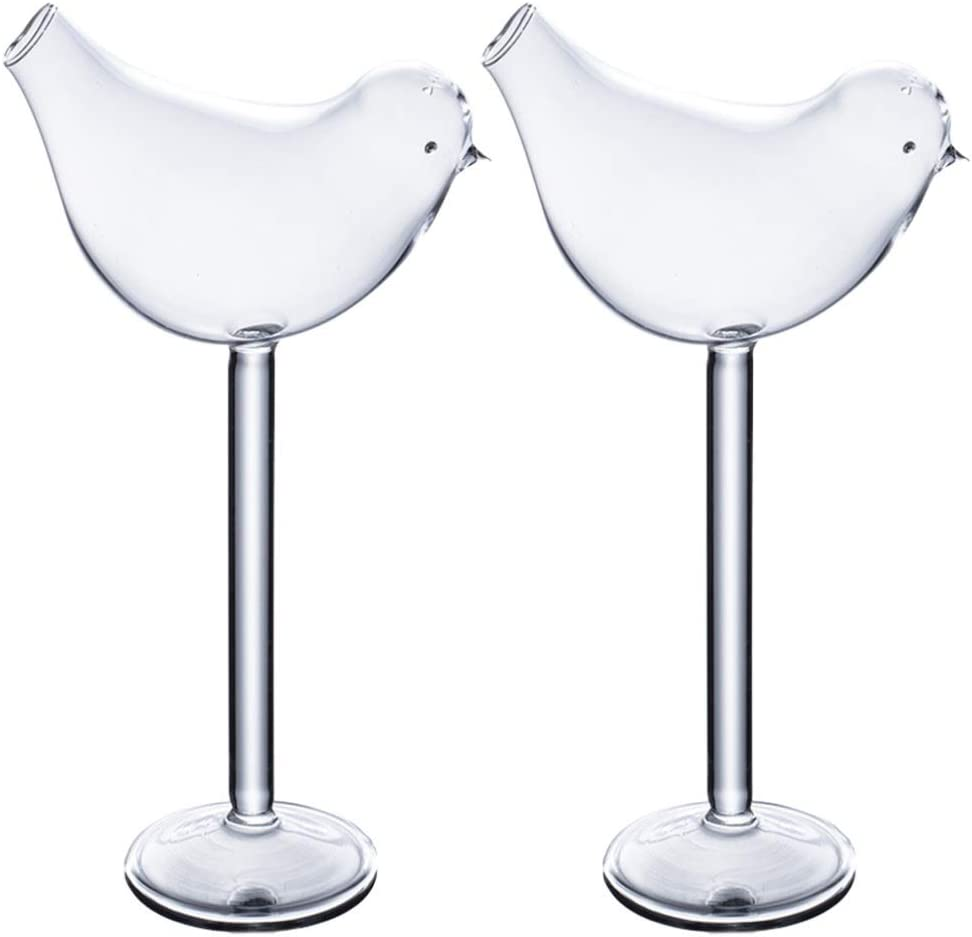 Cabilock Max 45% OFF Max 77% OFF 2pcs 150ml Martini Shaped Glasses Cocktail Bird