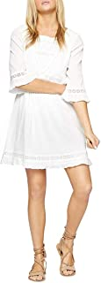 Sanctuary Womens Ellie Crinkled Eyelet Casual Dress