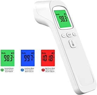 Digital Thermometer, MyM Non-Contact Thermometer For Adult And Baby Thermometer Forehead Temperature Infrared Thermometer Large LCD Display
