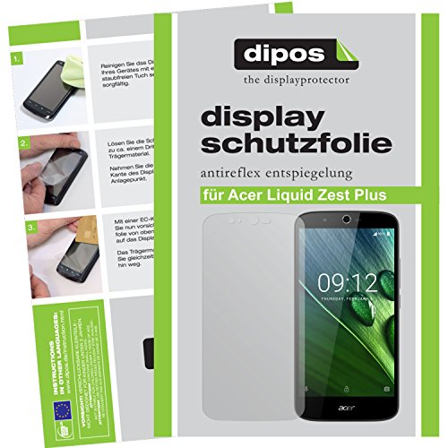 dipos I 2X Schutzfolie matt kompatibel mit Acer Liquid Zest Plus Folie Bildschirmschutzfolie