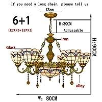 2020 Latest Design いくつかの頭が食べると簡単なステンドグラスティファニーガラスの部屋のアメリカの創造的な地中海スタイルを生きます,006