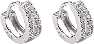 BBZZ Les Boucles d'oreilles en Argent Sterling S925 pour Femmes Ont Une personnalité à la Mode, avec des Diamants incrusté...