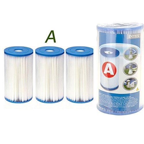 Générique 3 Cartouches de Filtration Intex pour Filtre Piscine - Intex Type A