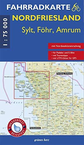 Fahrradkarte Nordfriesland - Sylt, Föhr, Amrum: (wasser- und reißfest)
