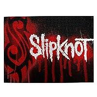 Slipknot Logo スリップノット2 大人と子供のための木製ジグソーパズル500ピース、クリエイティブギフトの家の装飾のためのアートワークジグソーパズルおもちゃ