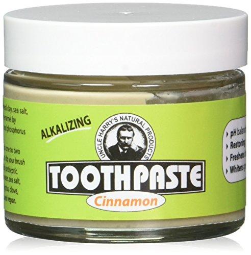 Pack of 2 Uncle Harry's Flouridel Toothpaste - Cinnamon (3 oz glass jar)
