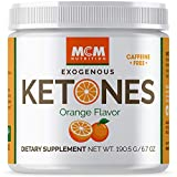 MCM Nutrition - Exogenous Ketones Supplement & BHB - Caffeine Free and Suppresses Appetite - Instant Keto Mix That Puts You into Ketosis Quick & Boosts The Keto Diet (Orange Flavor - 15 Servings)